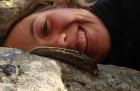 Máme rádi slimáky! Doubravka a  slimák popelavý (Limax cinereoniger).