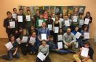 Die Schüler und Schülerinnen aus den Klassen 6a und 6b.