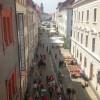 Nejkrásnější ulice Görlitzu z oken jednoho z nejkrásnějších domů.
